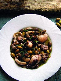 Cuttlefishes with Fennel and Green Olives (crushed)
