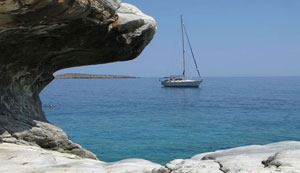 Sailing around Crete
